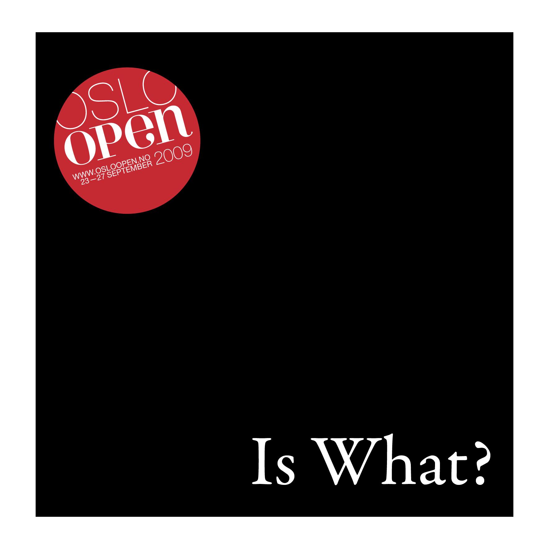 Vi presenter Oslo Open 2009