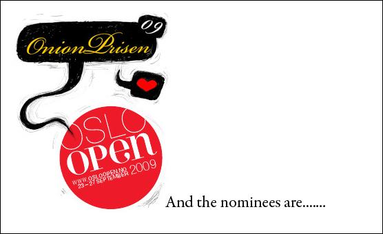 Nye nominerte til Onionprisen 2009!