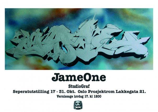 JameOne med graffitikunst på Oslo Prosjektrom