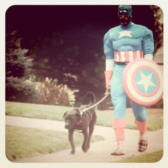 En helt vanlig dag med Captain America