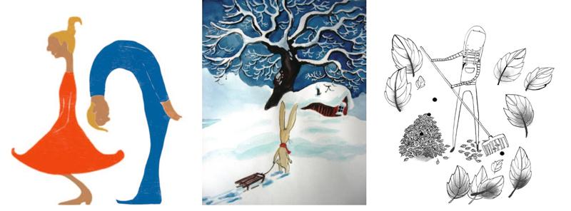 Tre kunstnere stiller ut –  Tegnerforbundet